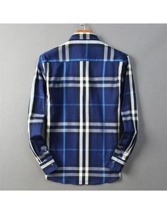 Burberry Shirts For Men, Cotton Shirts For Men, Chinese New Year Holiday, Casual Shirts, Plaid, Long Sleeve, Sleeves, Mens Tops, Clothes