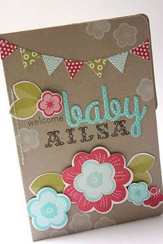 Baby Alisa Mini Book by Heather Nichols for Papertrey Ink (May 2013)