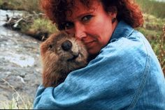 This woman and her furry beaver.