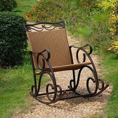 International Caravan Valencia Resin Wicker Rocker