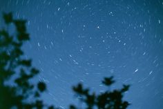 Kyle Cloutier: the star-trails in this long-exposure picture occur due to the rotation of the ear...