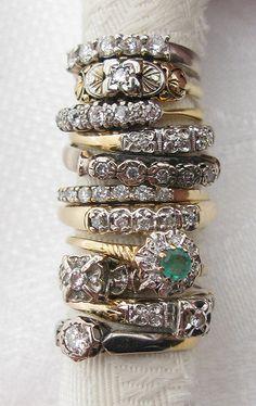 antique diamond rings #diamondrings #rings #engagementrings #weddingrings #diamonds #weddingbands
