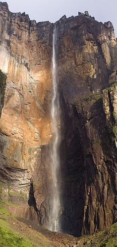 Angel Falls in Venezuela is the world's highest uninterrupted waterfall, with a height of 979 m (3,212 ft) and a plunge of 807 m (2,648 ft).  This picture taken during the driest season.