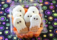 Adorable! And crazy easy to make! Nutter Butter Ghost Cookies http://thestir.cafemom.com/food_party/145588/nutter_butter_ghost_cookies_for?utm_medium=sm&utm_source=pinterest&utm_content=thestir