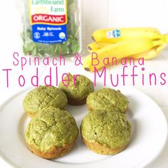 healthy spinach and banana toddler muffins