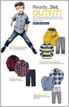 Ready, Set, Outfit! Little Boys Outfits