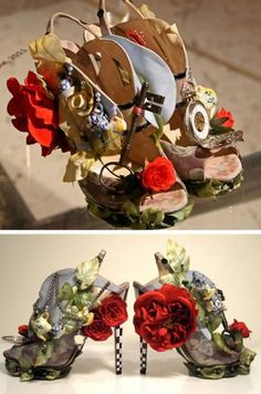 """Shoes by Nicholas Kirkwood inspired by """"Alice in Wonderland."""" #WeirdShoes"""