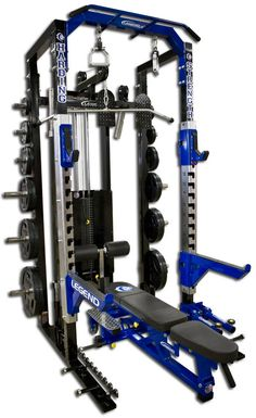 Fusion Series Pro Modular Half Cage with Lat Pulldown / Low Row - Legend Fitness