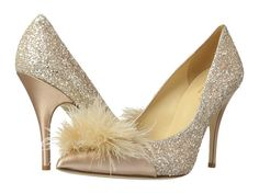 Kate Spade New York Lilo Rose Gold Glitter/Rose Gold Metallic Nappa/Satin - Zappos.com Free Shipping BOTH Ways