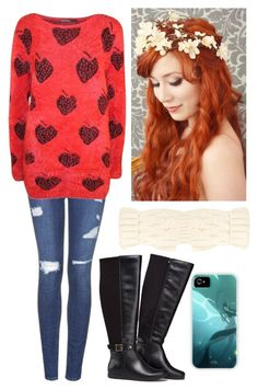 """""""The Owl City collection: Strawberry Avalanche"""" by lith-haywood ❤ liked on Polyvore featuring Topshop, Avon, Forever 21, owlcity and AdamYoung"""