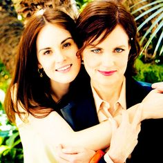 Lady Mary and Lady Cora! So sweet!
