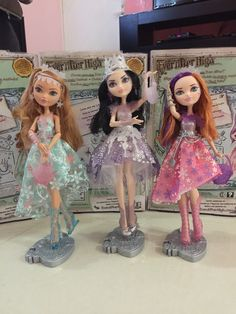 Ashlynn Ella, Duchess Swan and Poppy O'Hair Fairest on Ice Ever After High Dolls, 2015