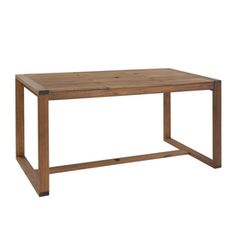 Garden Treasures Canal Point 62.76-in x 34.25-in Eucalyptus Rectangle Patio Dining Table $248 Shop Lowes.com