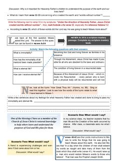 Old Testament Seminary Lesson 7 worksheet (page 2)