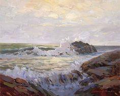 "Carmel by Lawrence Churski Oil ~ 16"" x 20"""