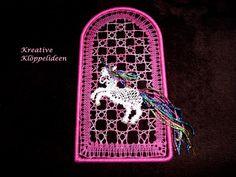 Fensterschmuck - KCA 37 Handgeklöppeltes Fensterbild klöppeln - ein Designerstück von Kreative-Kloeppelideen bei DaWanda