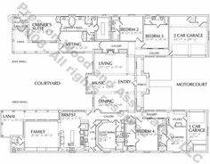 One Story Home Plan D1148