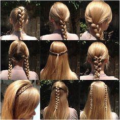 different ways to wear a three strand braid