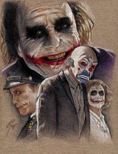 Heath Ledger Joker From The Dark Knight Art Du Joker, Le Joker Batman, Harley Quinn Et Le Joker, Der Joker, Superman, Heath Ledger Joker, Photos Joker, Joker Kunst, Joker Drawings