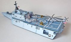 USS Independence (LCS-2) Combat Ship Free Paper Model Download…