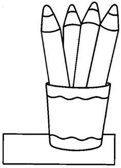 Manualidadesconmishijas: Cubilete de lápices para colorear o collage