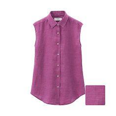 WOMEN Premium Linen Sleeveless Shirt