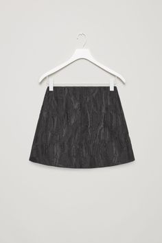 COS image 2 of Short jacquard skirt in Black