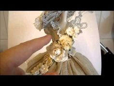 Shabby Chic Altered Dressform - jennings644 - YouTube