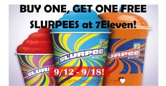 WOOHOO! Get a special treat! Buy One, Get One FREE Slurpees at 7Eleven! How fun! I think I will take the kids after school!  Click the link below to get all of the details ► http://www.thecouponingcouple.com/buy-one-get-one-free-slurpees-at-7eleven/ #Coupons #Couponing #CouponCommunity  Visit us at http://www.thecouponingcouple.com for more great posts!