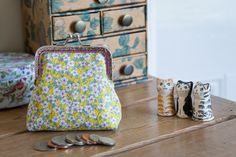 Coin purse made with Liberty Tana Lawn in by CrimsonRabbitBurrow