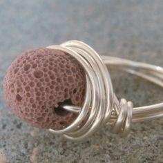 Geology Jewelry Rock Jewelry Stone Jewelry VOLCANIC by Meditations, $16.00