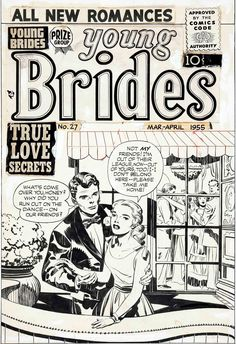 Original cover art by Jack Kirby from Young Brides #27, published by Prize Group, March 1955.