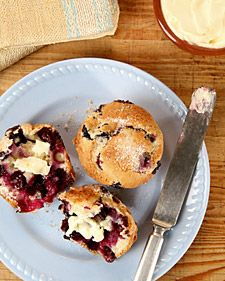 Blueberry Muffins - Martha Stewart Recipes - making tomorrow.