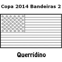 Querridino: Desenhos Colorir Copa 2014: Bandeiras 2