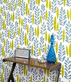 A new collection of Wallpaper from Miss Print. I love how bold it is. If only I didn't live in an apartment.