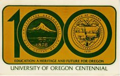 OR - 1981 University of OREGON Centennial celebration card, Eugene University Of Oregon, Ann Arbor, Celebration, Positivity, Things To Sell, Education, Cards, Ebay, Maps