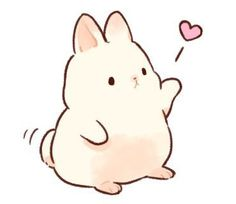 moodboard full of vaporewave and neon vibes Chibi Bunny, Kawaii Bunny, Cute Kawaii Animals, Cute Chibi, Cute Little Drawings, Cute Cartoon Drawings, Cute Kawaii Drawings, Cute Animal Drawings, Bunny Drawing
