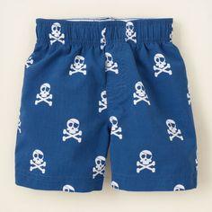 baby boy - swimwear - skull swim trunks The Children's Place, $10
