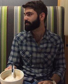 "beardburnme: ""mnuels Instagram "" His hair, eyebrows, moustache and beard."