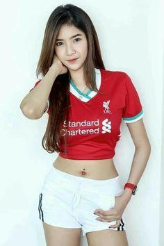 Liverpool Girls, Asian Girl, White Shorts, Gym Shorts Womens, Crop Tops, Beautiful, Beauty, Fan, Club