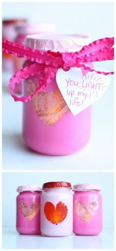 If you& looking for cool things to make with baby food jars, this list is perfect for you! You& find easy recycled jar crafts for moms, teens, kids, and even toddlers! Valentines Presents, Valentine Crafts For Kids, Crafts For Teens To Make, Valentines Day Activities, Mothers Day Crafts, Craft Activities For Kids, Gifts For Teens, Valentines Diy, Craft Ideas