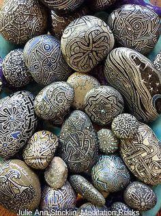 Meditation Rocks by artist Julie Ann Stricklin
