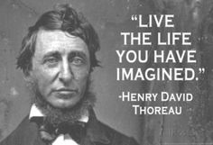 Live The Life You Have Imagined Henry David Thoreau Quote Poster Masterprint at AllPosters.com