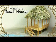 Miniature Beach Chair, Hammock & Umbrella - Doll Tutorial - YouTube