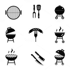 Barbecue stock by Meilun on Bbq Ribs, Barbecue, Carnicerias Ideas, Ideas Para, Bar Palettes, Grilling Art, Laser Art, Grill Design, Photoshop