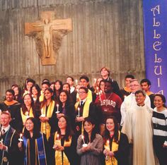 A glimpse from Newman Hall - Holy Spirit Parish, the Catholic campus ministry served by the Paulist Fathers since 1907 at the University of California at Berkeley.  Paulist Fr. Ivan Tou, Newman Hall director, is at right.