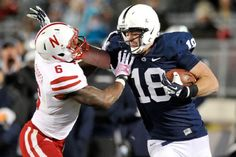PENN STATE – FOOTBALL 2013 – Jesse James in a home game against Nebraska. Big Ten college football fearless predictions. Football 2013, Football Season, College Football, Football Helmets, Pennsylvania State University, Nittany Lion, Jesse James, Social Events, Athletics