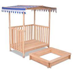 VeenShop Outdoor Children's Sandbox Beach Cabana Sandbox Retractable Playhouse with Canopy Kids Children Outdoor Toy Sandbox Cover, Kids Sandbox, Sandbox Ideas, Outdoor Toys For Kids, Outdoor Play, Outdoor Rugs, Beach Cabana, Kids Canopy, Build A Playhouse