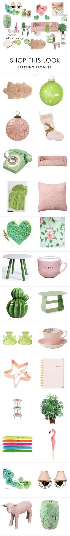 """""""Soft pastel combo- green & blush"""" by mariyushka on Polyvore featuring interior, interiors, interior design, home, home decor, interior decorating, Rizzy Home, Pottery Barn, SANDERSON and Blu Dot"""