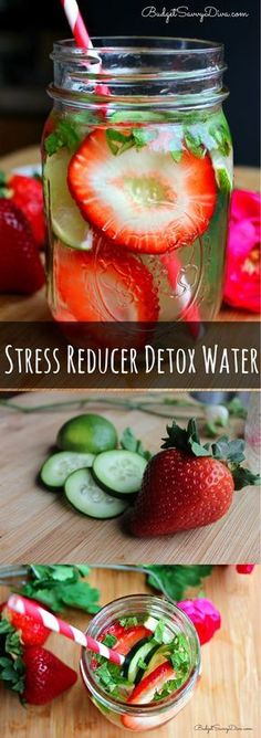 Stress Relief Drinks: Stress Reducer Detox Water   Easy Healthy Detox Water Recipe by DIY Ready at http://diyready.com/diy-recipes-detox-waters/